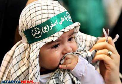Thousands little kids perform mourning of Hazrat <b>Ali Asghar</b> (AS) in Tehran ... - 13kids_mourn_hazrat_ali_asghar