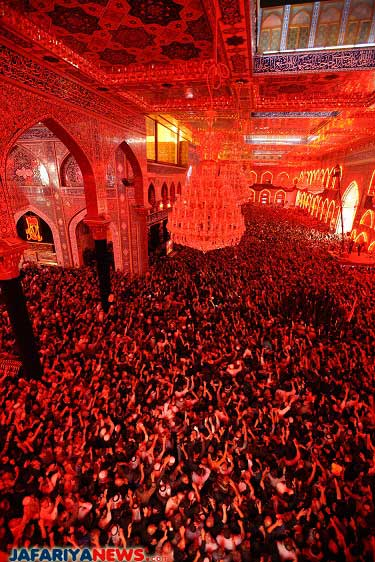 Husseini dome's red standard replaced as Moharram starts ...